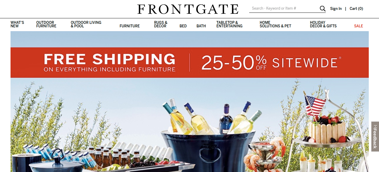 www.frontgate.com - How To Join Frontgate For Free Shipping Offer